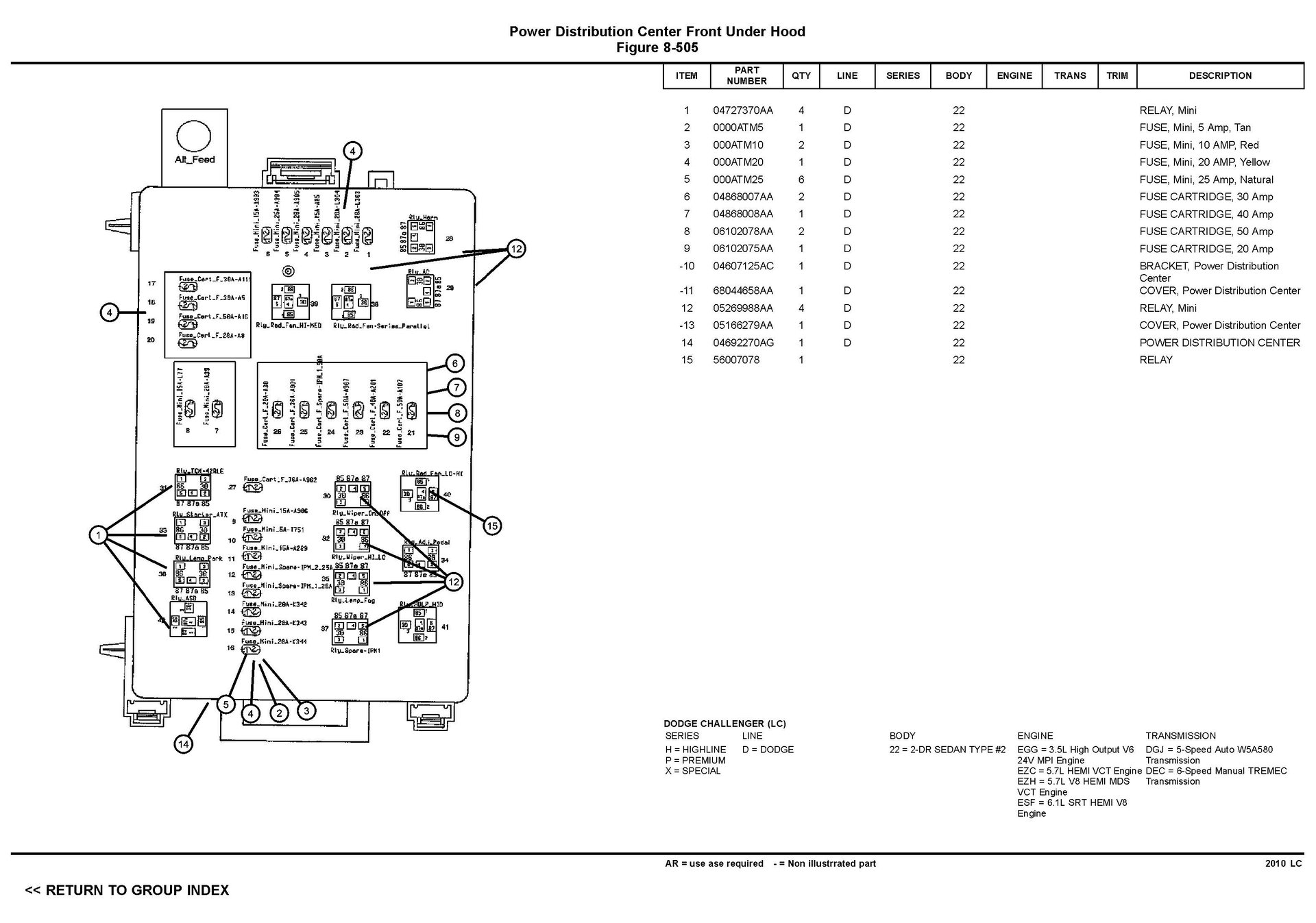 Wiring Schematic For 2010 Dodge Challenger