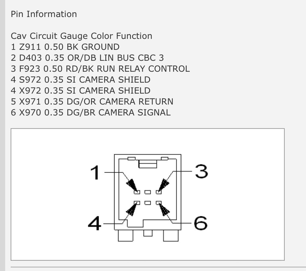 2015 Dodge Challenger Wiring Diagram Camera