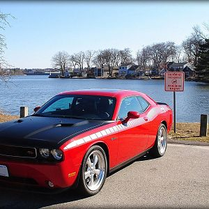 Challenger at the lake