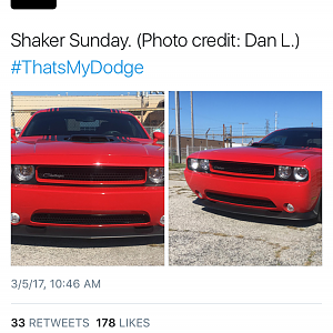 Dodge posted my Challenger